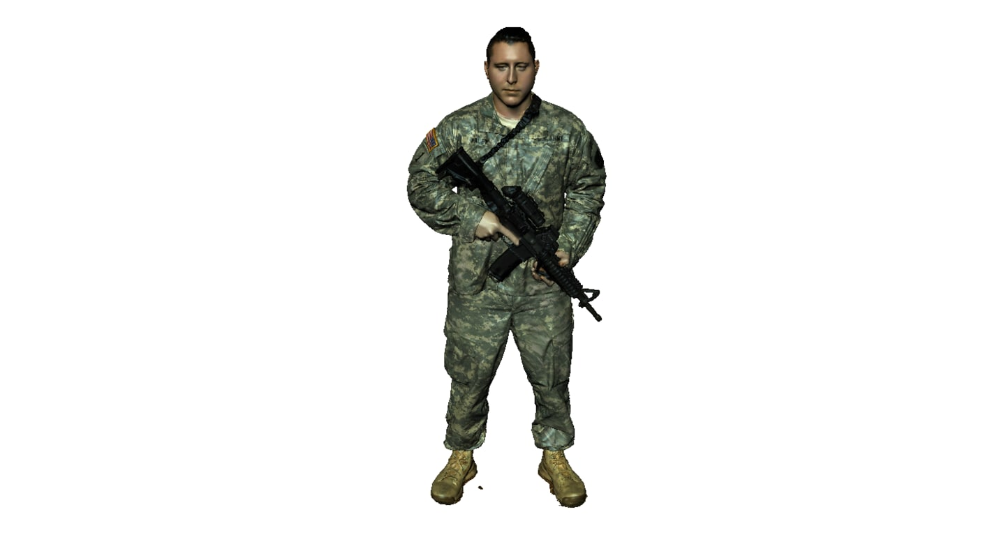 soldier army 3d model
