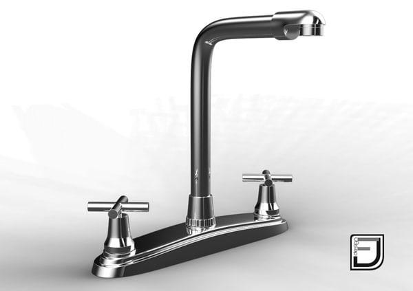3d model kitchen faucet 18