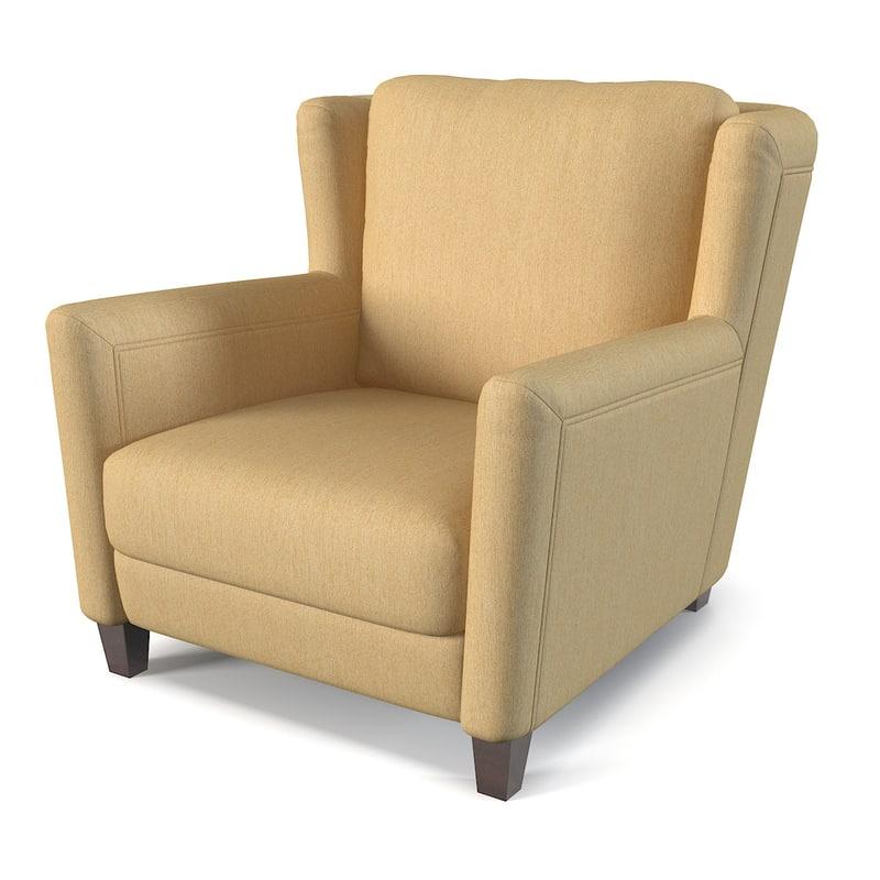 3d model of rigo salotti armchair