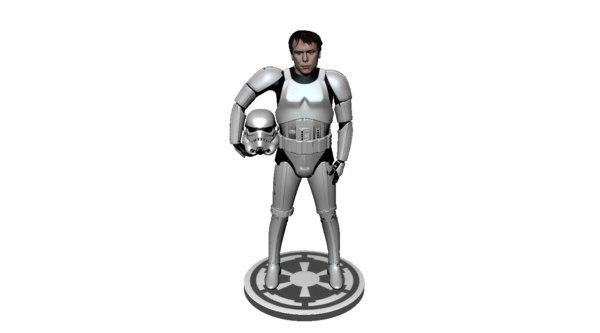 storm trooper 3d model