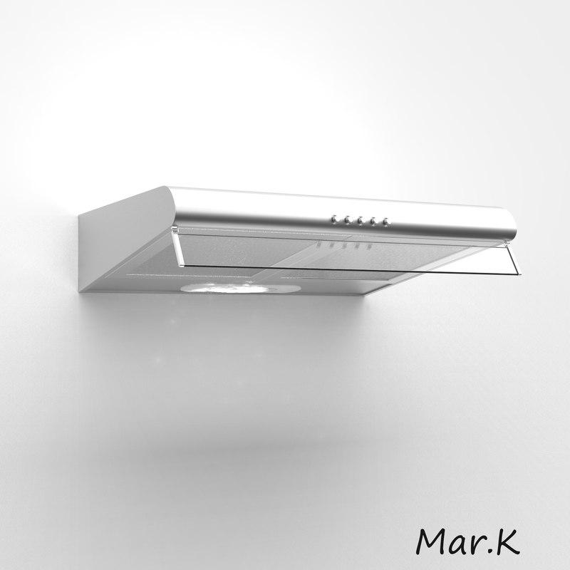 kitchen hood mora op620x 3d c4d