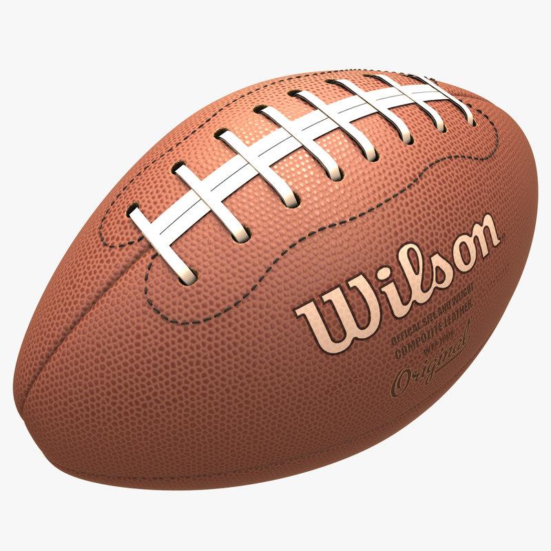 3d american football model