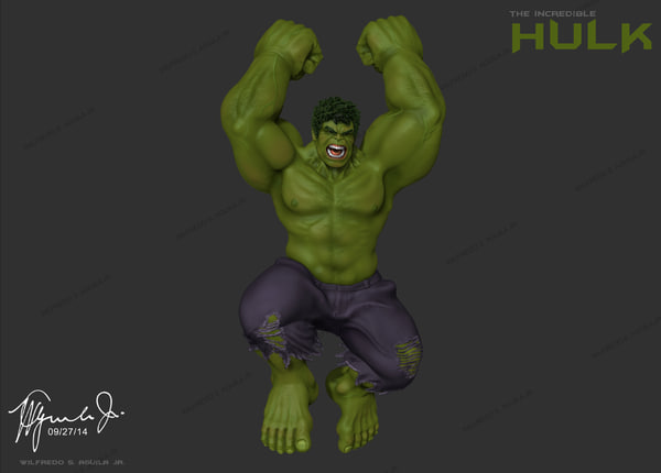 incredible hulk mark ruffalo 3d model