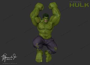 incredible hulk mark ruffalo 3d model