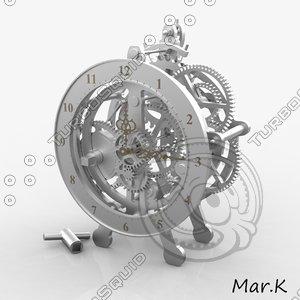 clock clockwork 3d model