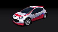 3d peugeot 207 wrc rally model