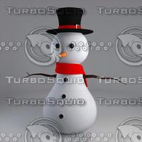 printable snowman 3dm