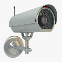 3d model outdoor security camera