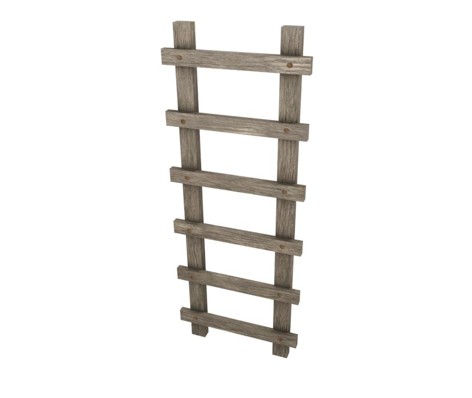 free obj model low-poly ladder