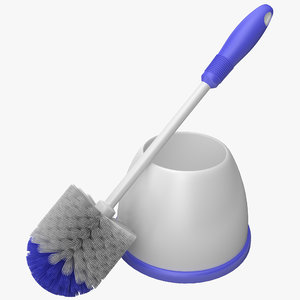 3d toilet bowl brush