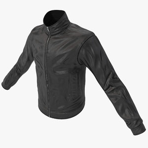 3d mens leather jacket