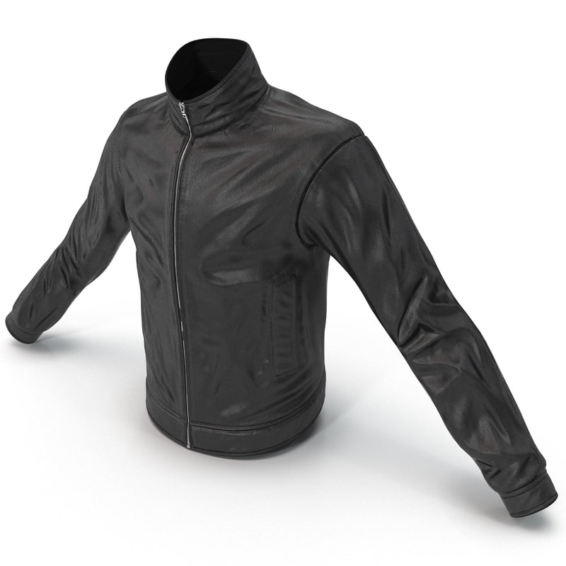 3d mens leather jacket