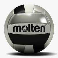 Molten Volleyball Black Silver
