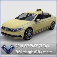 2015 passat taxi 3d model