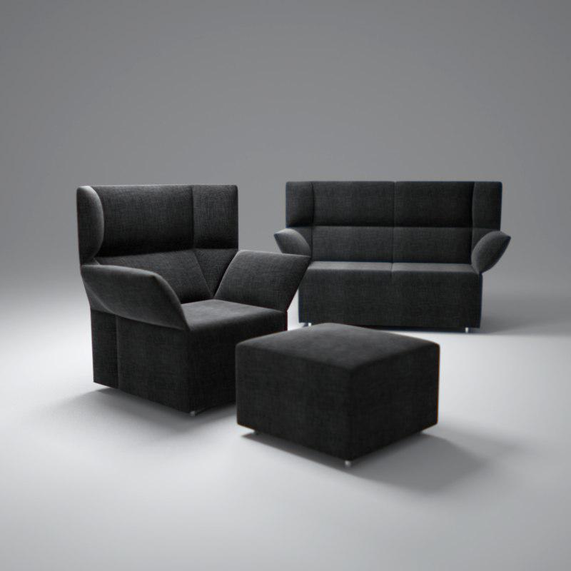 origami-sofa 3d max