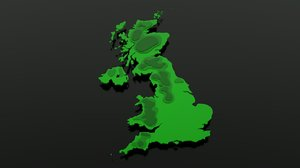 united kingdom 3d model