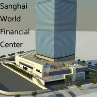 shanghai world financial 3d model