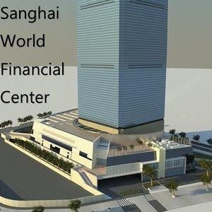 shanghai world financial 3d model