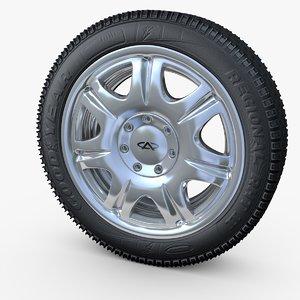 wheel hidden fastening bolts 3d model