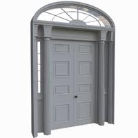 3d model victorian doors