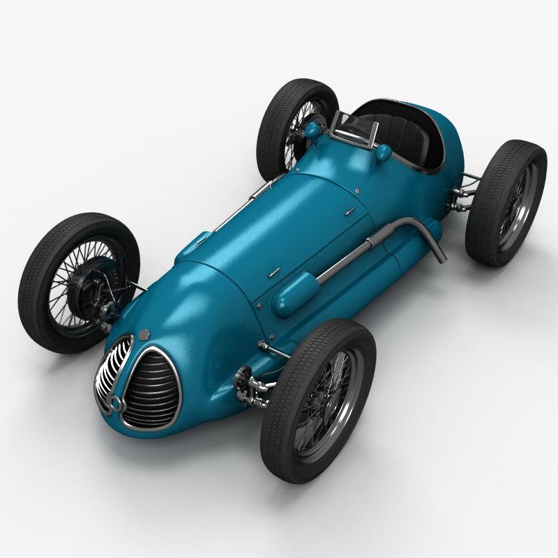 3d old race car