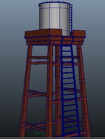 water tower 3d ma