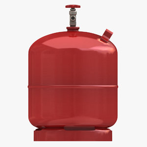 3d realistic gas cylinder 3 model
