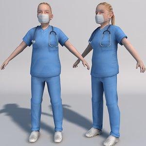 3dsmax nurse realtime games