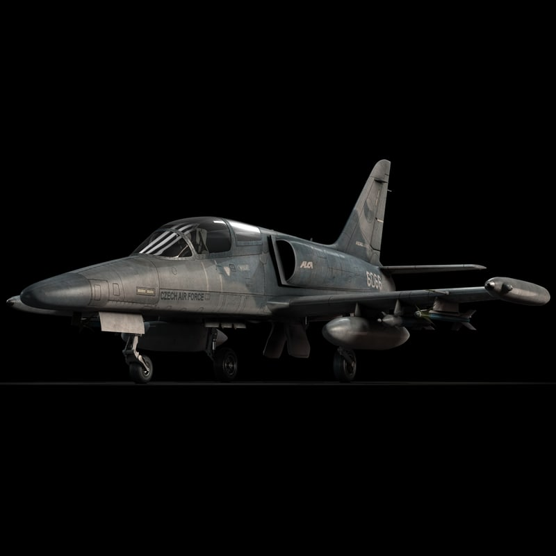 3d czech fighter airplane aero model