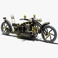 steampunk concept 3d model