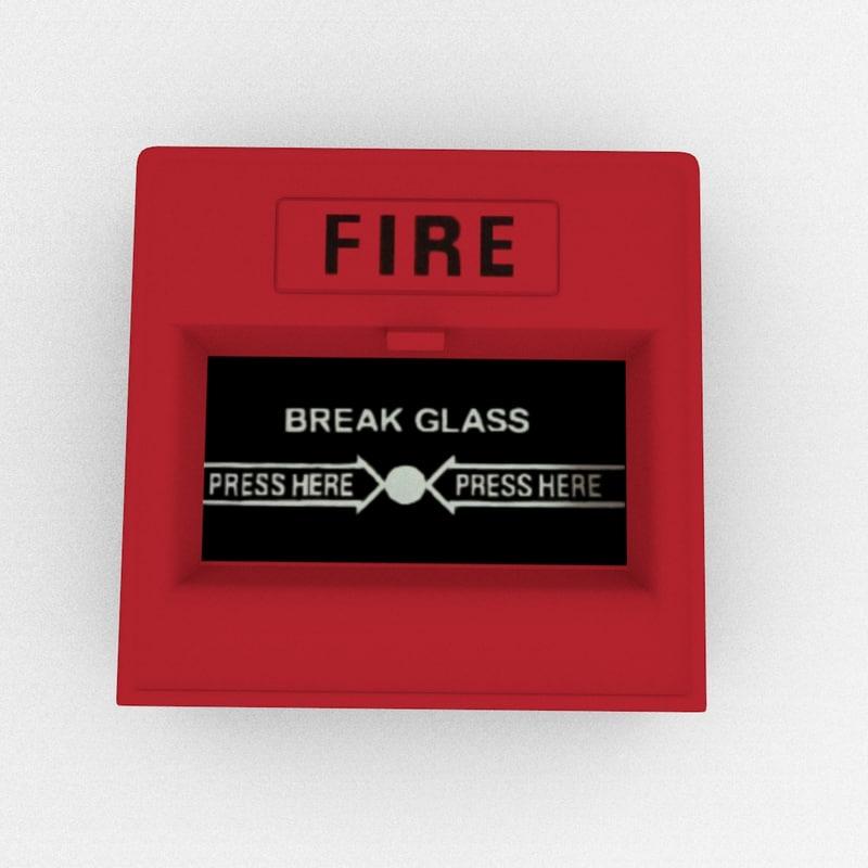 3d model emergency alarm button