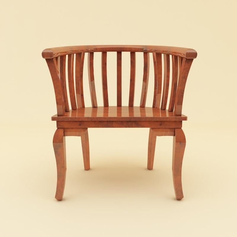 3ds max batavian chair furniture