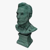 Abraham Lincoln patina bust
