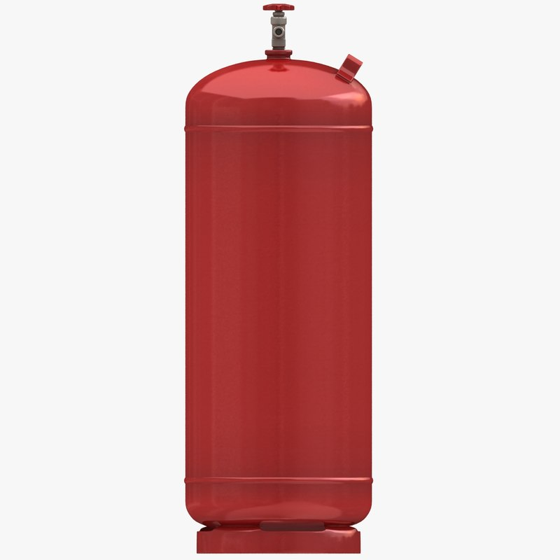 3d model of gas cylinder 4