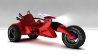3d model motorcycle concept 1