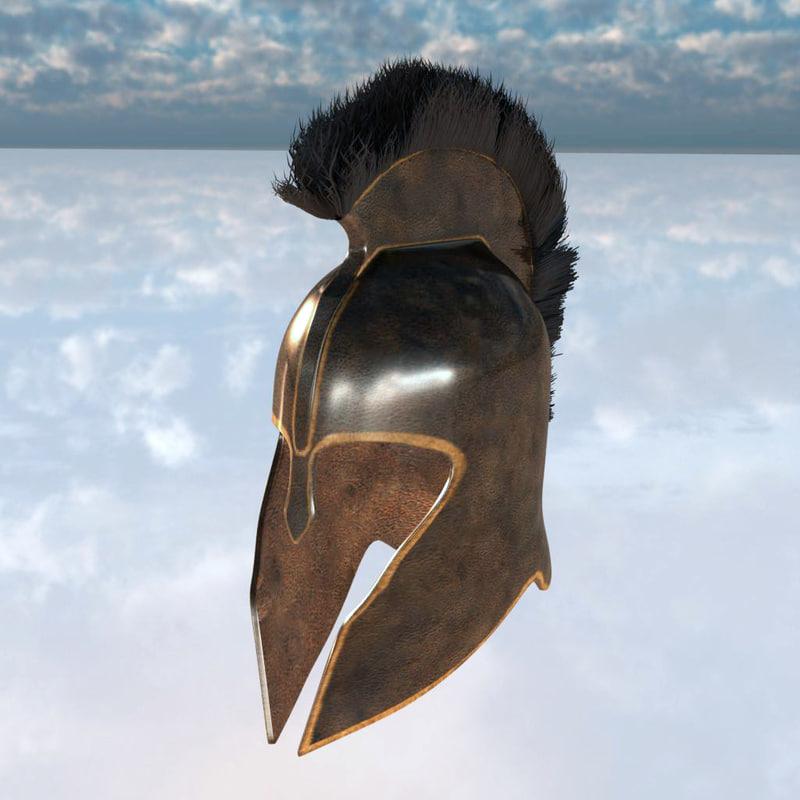 3d model trojan helmet