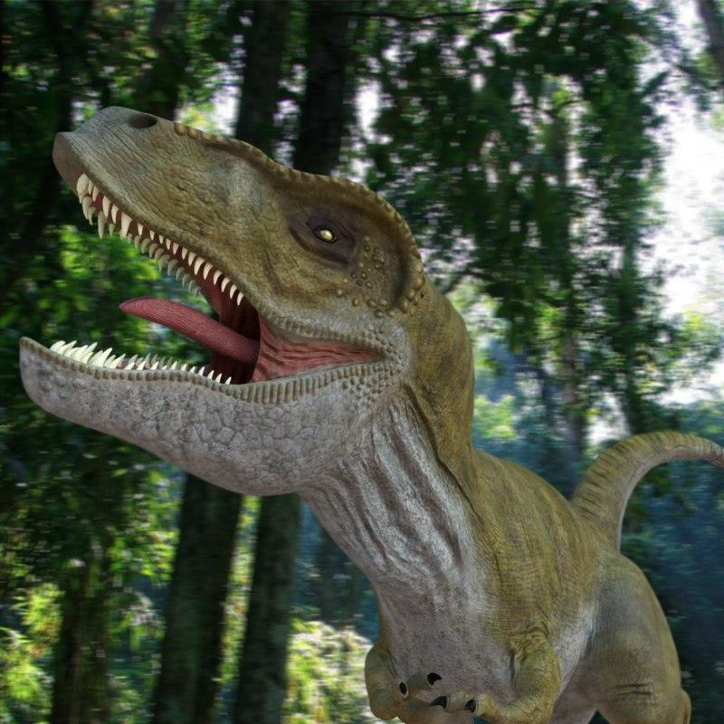 tyrannosaurus rex rigged blend