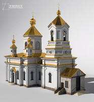 3d model orthodox church