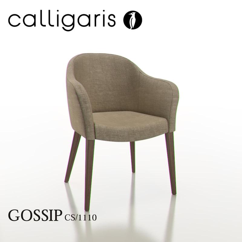 3ds calligaris gossip dining chair