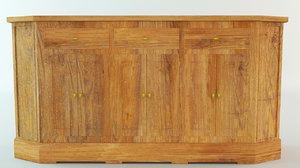 3d model sideboard wood