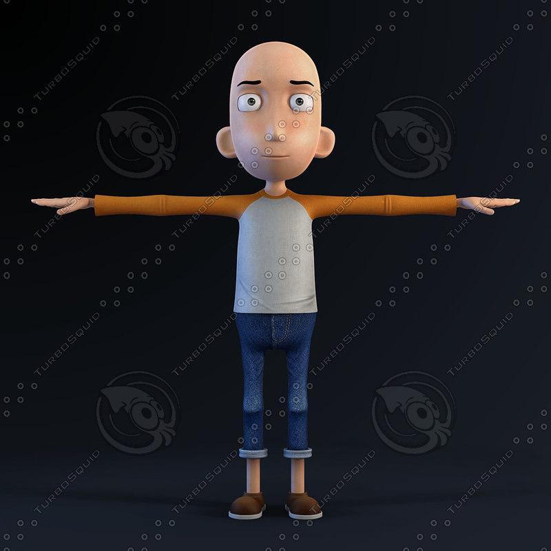 3d cartoon character toon model