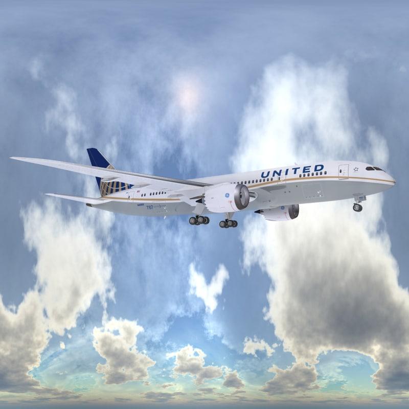 3d boeing 787-8 dreamliner