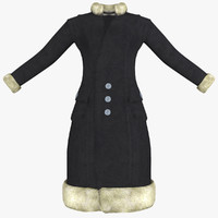 3ds max womens black coat