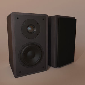 speakers realistic 3d 3ds