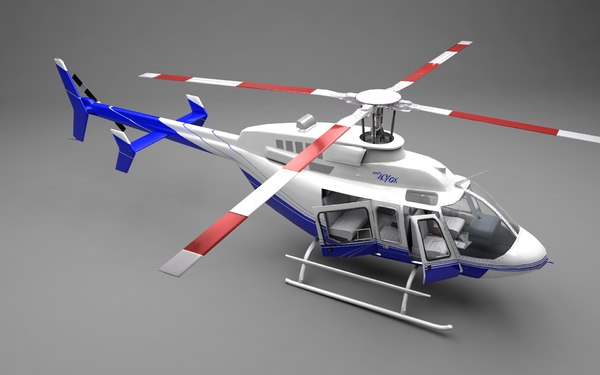 3ds bell 407gx helicopter rotor