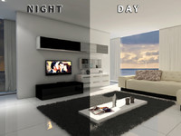 3d max living room 12 day