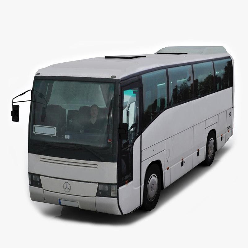 mercedes benz 0404 mini bus 3ds
