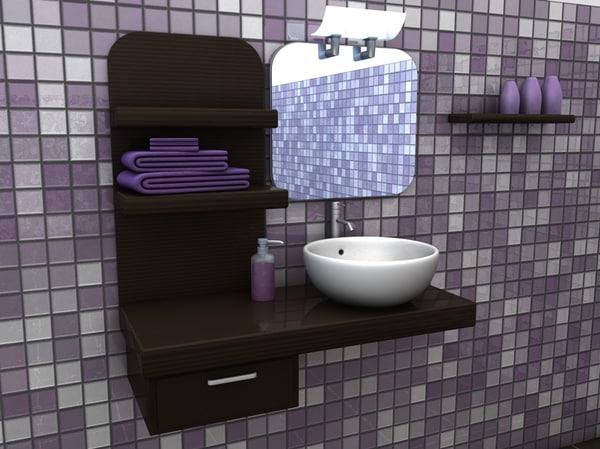 c4d bathroom interior