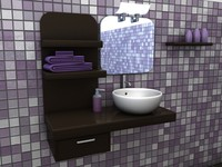 c4d bathroom interior