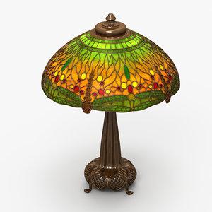 3d tiffany lamp model